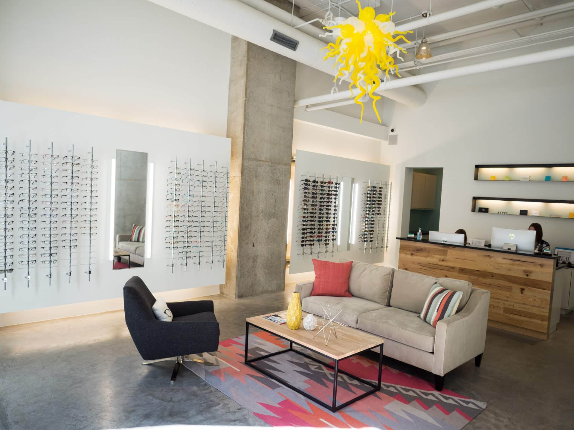 Westlake Eyecare - Downtown Austin office interior